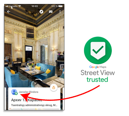 Street View Trusted Photographer Badge
